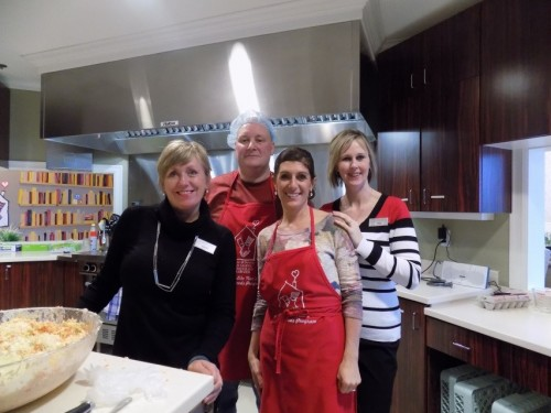 Mary Davis, Executive Director; Pam Molly, Team Lead LPN; Michelle Collins, Marketing and Community Relations Manager; Craig Duffet, Executive Chef and Thelma Daigle, a Home For Dinner Volunteer at the Ronald McDonald House